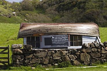 Curious kiosk on the Isle of Mull, Scotland, UK, Europe, PublicGround