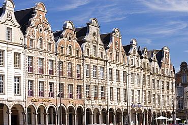 Mansions, Grand Place, Arras, Nord Pas-de-Calais, Normandie, France, PublicGround