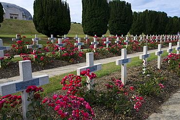 War graves, Camp de Batallie, Douaumont, Verdun, Lorraine, Lorraine, France, Europe