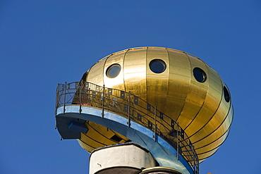Hundertwasser tower of the Kuchelbauer Brewery, Abensberg, Lower Bavaria, Bavaria, Germany, Europe, PublicGround
