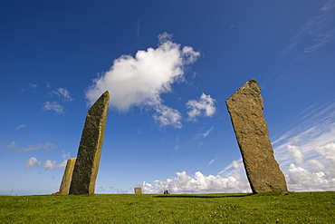 Neolithic ritual place, The Standing Stones of Stennes, Stromness, Orkney Islands, Scotland, United Kingdom, Europe
