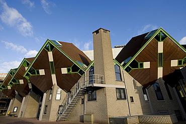 Paalwoningen, pole dwellings, Helmond, North Brabant, Holland, Netherlands, Europe, PublicGround