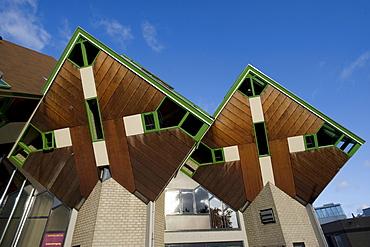 Paalwoningen, pole dwellings, Helmond, North Brabant, Holland, Netherlands, Europe