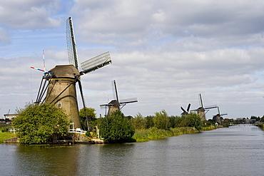Kinderdijk, polder mills, South Holland, Holland, Netherlands, Europe