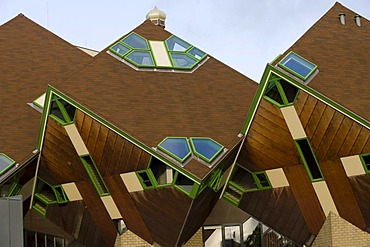 Paalwoningen, cube houses or pole dwellings, Helmond, North Brabant, Holland, Netherlands, Europe