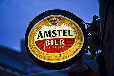 Amstel sign, Valkenburg, Limburg, Holland, Netherlands, Europe