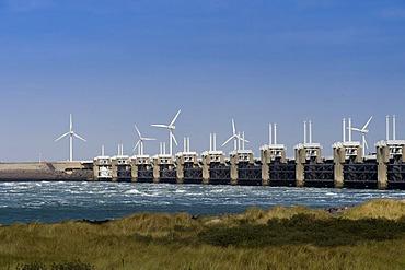 Storm surge barrier, Delta Works, Zeeland, Holland, Netherlands, Europe