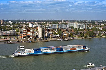 View of the city and the Maas, Dordrecht, South Holland, Holland, Netherlands, Europe