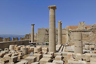 Acropolis, Lindos, Rhodes, Greece, Europe