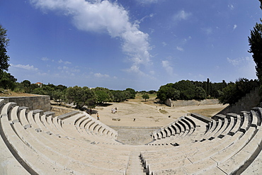 Ancient Stadium, reconstructed, Monte Smith, Rhodes Town, Rhodes, Greece, Europe
