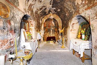 Frescoes, 14th to 15th century, Agios Thomas church, Rhodes, Greece, Europe