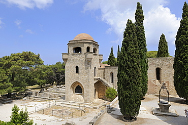 Knight's Church, reconstruction by Italians, Filerimos, Rhodes, Greece, Europe