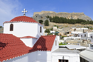 Church of the Panagia, Lindos, Rhodes, Greece, Europe