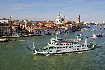 Minoan Lines ferry sailing in the direction of Corfu, Greece, view of Venice, Italy, Europe