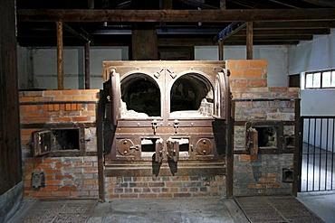 Old small crematorium, Dachau Concentration Camp Memorial Site, Dachau, Bavaria, Germany, Europe