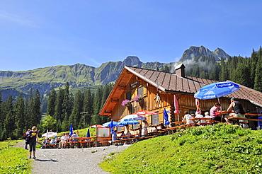 Baergunt Hut, Kleinwalsertal, Little Walser Valley, Vorarlberg, Allgaeu Alps, Austria, Europe