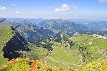 View from the Hoher Ifen Mountain, Vorarlberg, Allgaeu Alps, Austria, Europe