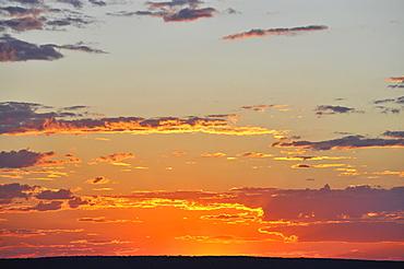 Aerial view of the sunset, Uluru-Kata Tjuta National Park, Northern Territory, Australia