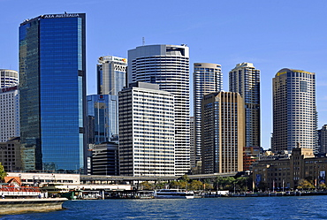 View of Sydney Cove, Circular Quay, port, skyline of Sydney, Central Business District, Sydney, New South Wales, Australia