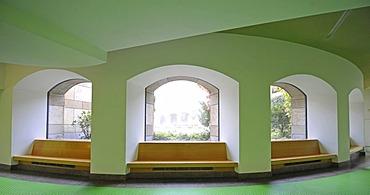 Interior, rear foyer, rotunda, New State Gallery, Stuttgart, Baden-Wuerttemberg, Germany, Europe