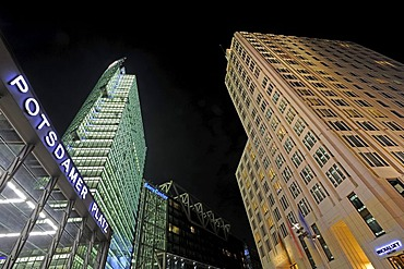 Building of the Sony Center and Ritz Carlton Hotel Berlin, Potsdamer Platz square, Berlin, Germany, Europe