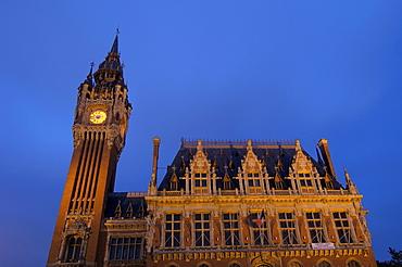 Belfry, Hotel de Ville, town hall, Calais, Nord-Pas de Calais, France, Europe