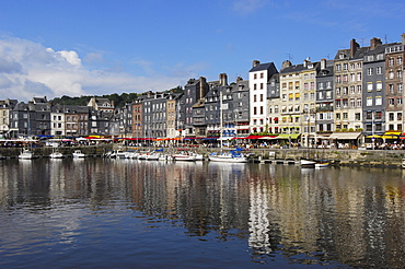Harbour, Honfleur, Calvados province, Normandy, France, Europe