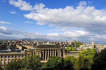 Edinburgh old town from Calton Hill, Edinburgh, Lothian Region, Scotland, United Kingdom, Europe