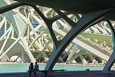 Principe Felipe Science Museum, City of Arts and Sciences by Santiago Calatrava, Comunidad Valenciana, Valencia, Spain, Europe