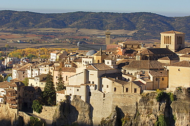 Old town and the Hanging Houses, Cuenca, UNESCO World Heritage Site, Castilla-La Mancha, Spain, Europe