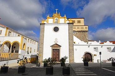 El Salvador church in Praca de Sertorio, evora, Alentejo, Portugal, Europe