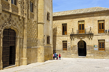 Jabalquinto Palace, 16th century, Baeza, Jaen province, Andalusia, Spain, Europe