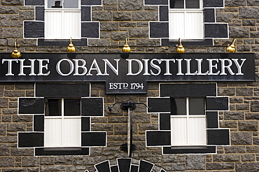 Oban Whisky distillery, 1794, West Highlands, Argyll and Bute, Scotland, United Kingdom, Europe