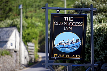"Sign ""The Old Success Inn"", Sennen, Cornwall, England, United Kingdom, Europe"