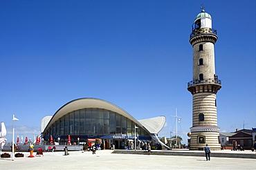 Lighthouse and Teapot, Warnemuende, Mecklenburg-Western Pomerania, Germany, Europe