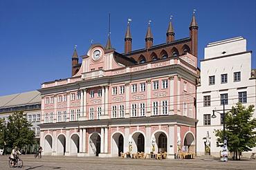 City Hall, Rostock, Mecklenburg-Western Pomerania, Germany, Europe