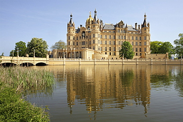Schwerin Castle, Mecklenburg-Western Pomerania, Germany, Europe
