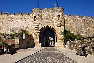 Lincoln Castle Gate, Lincoln, Lincolnshire, England, United Kingdom, Europe