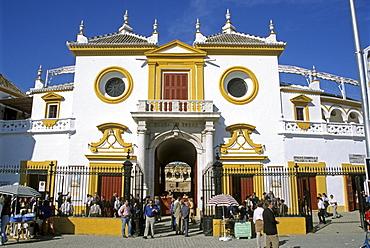 Bullring, Plaza de Toros, Seville, Andalusia, Spain, Europe