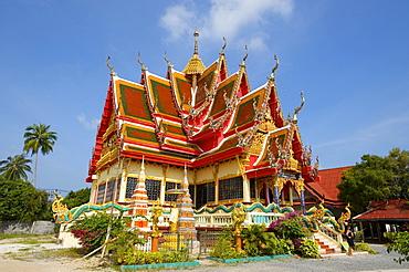Temple in Bo Phut, Ko Samui island, Thailand, Asia