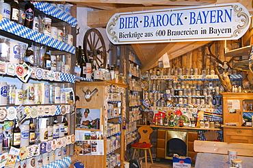 Bavarian Bierkrugmuseum, Beer Stein Museum near Rettenberg, Allgaeu, Bavaria, Germany, Europe