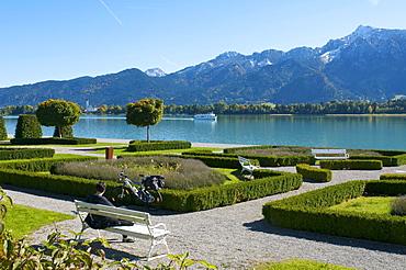 Musical Theatre on Lake Forggensee near Fuessen, Allgaeu, Bavaria, Germany, Europe