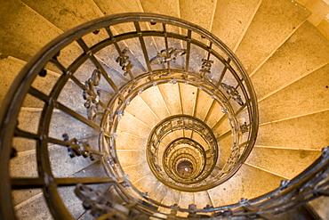 Spiral stair, St. Stephens Basilica, Budapest, Hungary, Eastern Europe