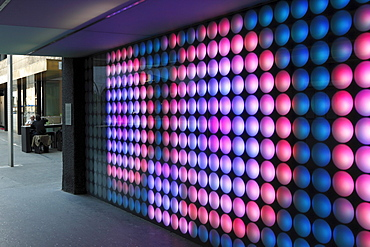 Light installation 47, 16 degrees north by Peter Sandbichler, Sparkassenplatz Passage, Innsbruck, Tyrol, Austria, Europe