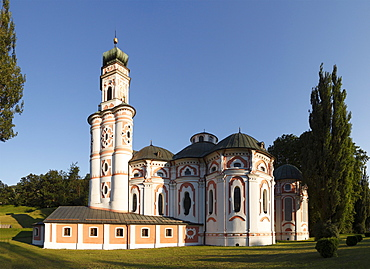 Karlskirche, Church of Saint Charles Borromeo, Volders, Inn Valley, Tyrol, Austria, Europe