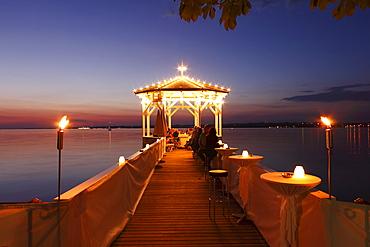 Pavilion at the lake promenade, Bregenz, Lake Constance, Vorarlberg, Austria, Europe