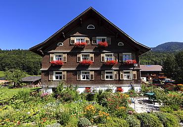 Bregenzerwald house in Bezau, Bregenz Forest, Bregenzerwald, Vorarlberg, Austria, Europe