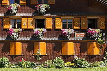 Bregenzerwald house in Schoppernau, Bregenz Forest, Bregenzerwald, Vorarlberg, Austria, Europe