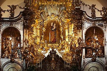 Miraculous image of the Virgin Mary in Loreto Chapel, pilgrimage church, Sanctuary of the Visitation, Rankweil, Vorarlberg, Austria, Europe