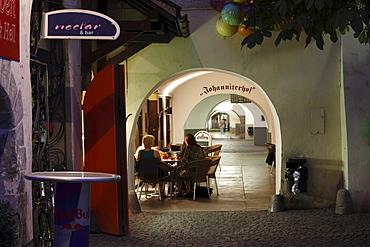 Arcade in Johannitergasse alley, Feldkirch, Vorarlberg, Austria, Europe